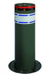 ELEKTROMECHANISCHER POLLER Feuerverzinkt RAL 7022 grau lackiert 700mm Aushub
