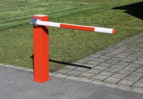 Schranke SOLAR für Parkplätze, Breite: 1.000 mm, Farbe: rot-weiß