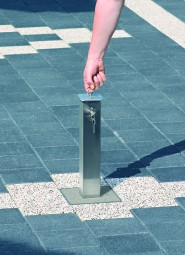 Edelstahl Sperrpfosten 70x70 mm ASE 330