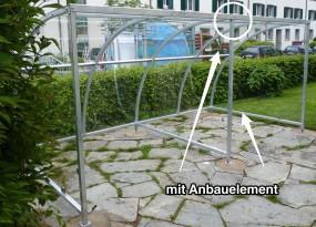 Anbauelement für 7 Fahrräder - Breite 300 cm - feuerverzinkt - für Timberline Duro