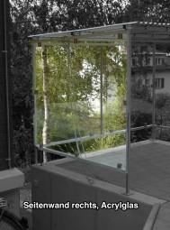 Seitenwand rechts - Acrylglas - für Fahrradunterstand