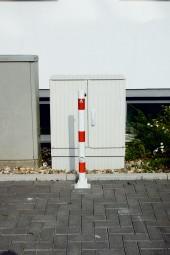 Absperrpoller Ø 60 mm mit aufgeschweißter Stahlkappe